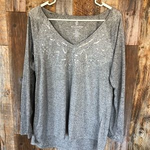 JUICY COUTURE Grey Blouse. Large.